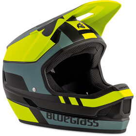 bluegrass Legit Helmet black/fluo yellow/gray
